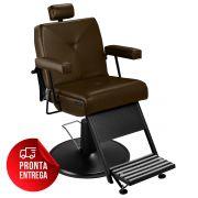 Cadeira de Barbeiro Reclinável Milão - Pé Preto