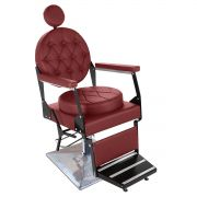 Cadeira de Barbeiro Reclinável Ônix Pé Quadrado