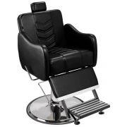 Cadeira de Barbeiro Veneza com Encosto e Apoio de Pé Reclináveis Pé Cálice Cromado