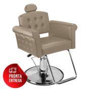 Cadeira de Cabeleireiro Elegance Encosto Reclinável - Pé Redondo