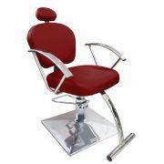 Cadeira de Cabeleireiro Jasmim Encosto Reclinável - Pé Quadrado