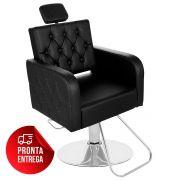 Cadeira de Cabeleireiro Siena Encosto Fixo Pé Redondo