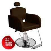Cadeira de Cabeleireiro Sofia - Encosto Fixo - Pé Redondo