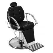 Cadeira de Maquiagem Linea - Braço Cromado - Pé Cromado