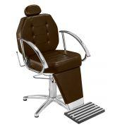 Cadeira de Maquiagem Linea - Braço Cromado - Pentapé