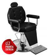Cadeira de Maquiagem Línea - Braço Estofado - Pé Cromado