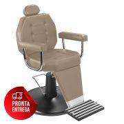 Cadeira de Maquiagem Línea - Braço Estofado - Pé Preto