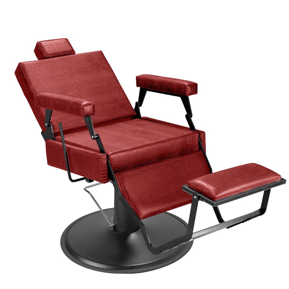 Cadeira de Barbeiro Barber Black - Pé Preto
