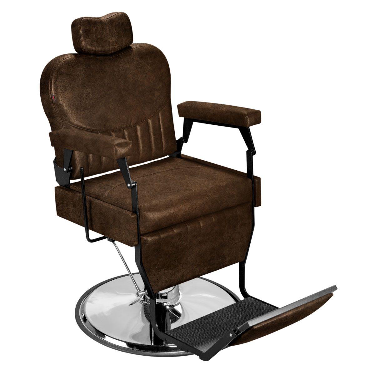 Cadeira de Barbeiro Barber Classic - Pé Cromado