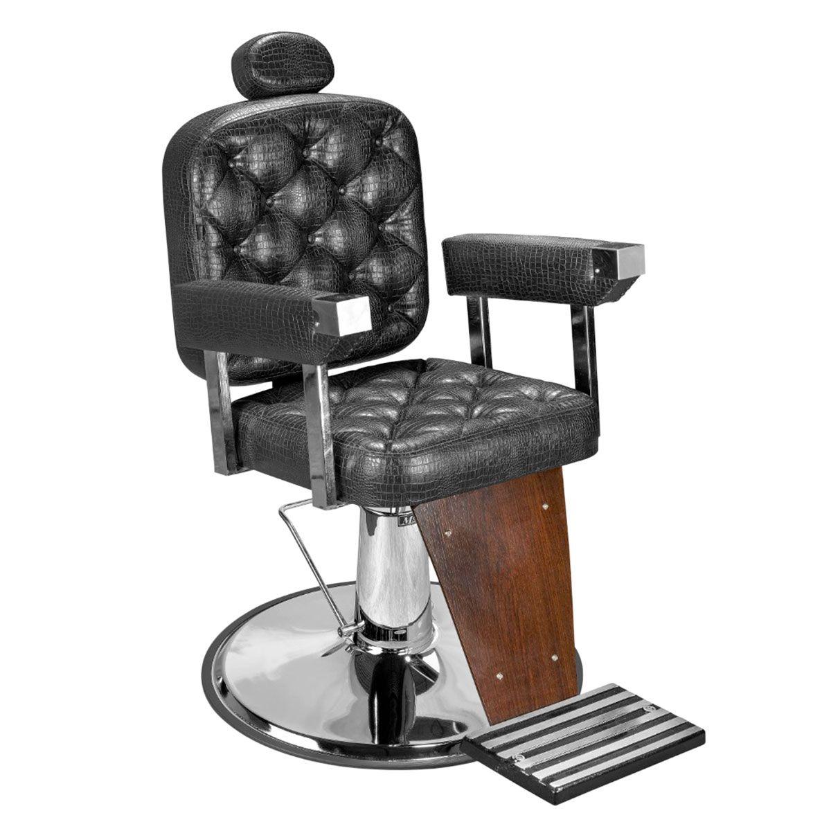 Cadeira de Barbeiro Dubai Barber - Pé Cromado