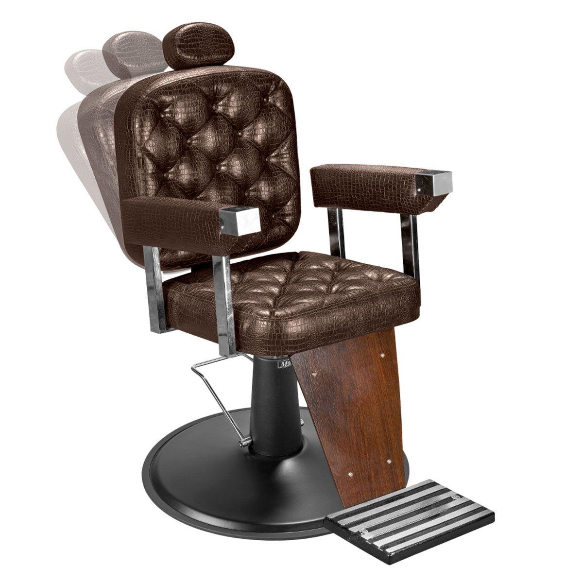 Cadeira de Barbeiro Dubai Barber - Pé Preto