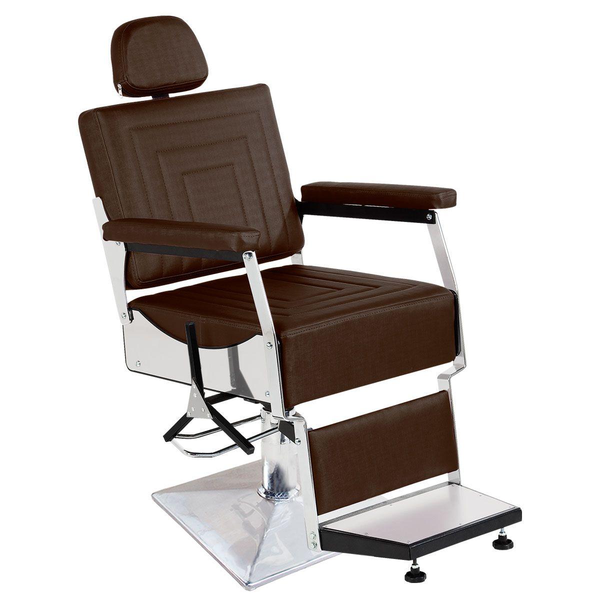 Cadeira de Barbeiro Reclinável Apolo Pé Quadrado