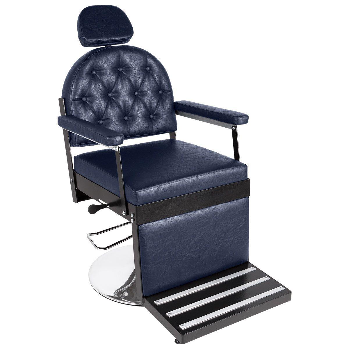 Cadeira de Barbeiro Reclinável Júpiter Pé Redondo