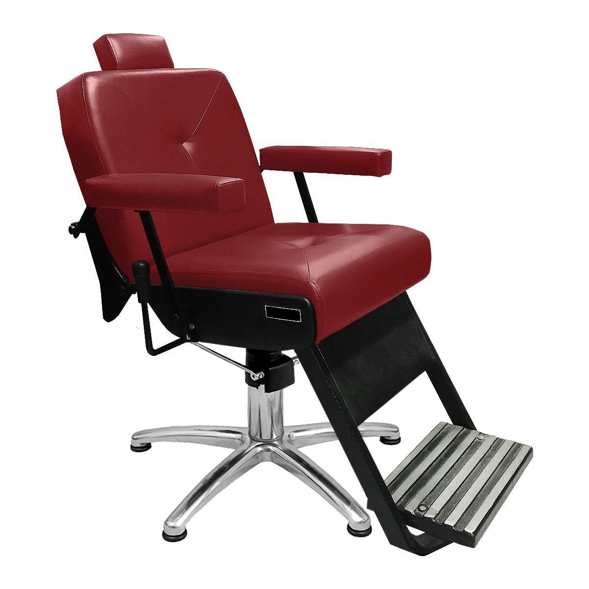 Cadeira de Barbeiro Reclinável Monza Pé Pentapé