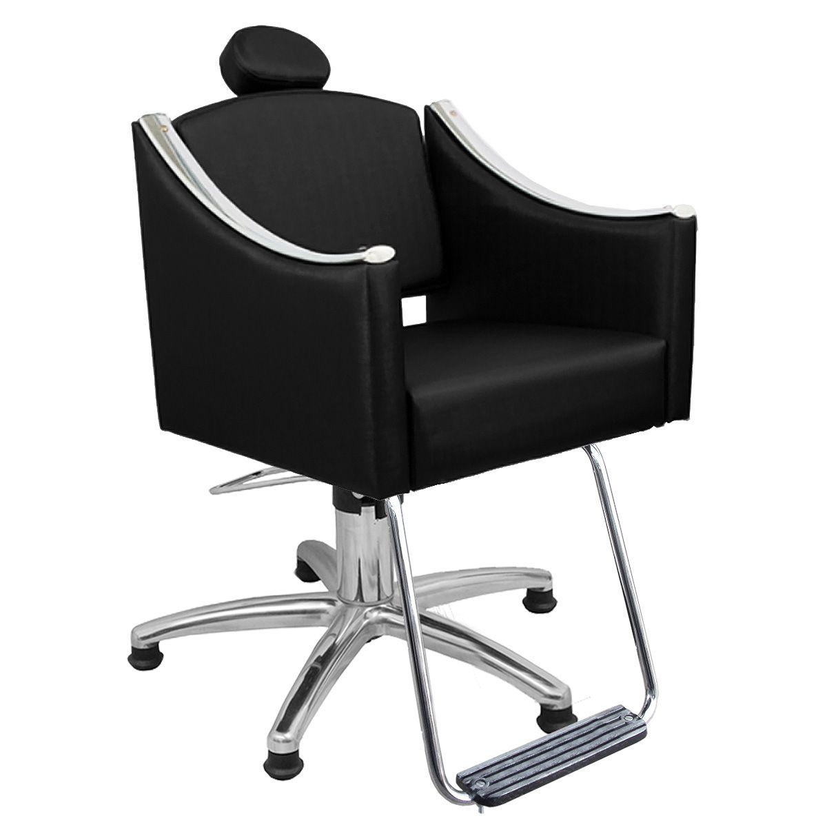 Cadeira de Cabeleireiro Cristal Encosto Fixo - Pentapé