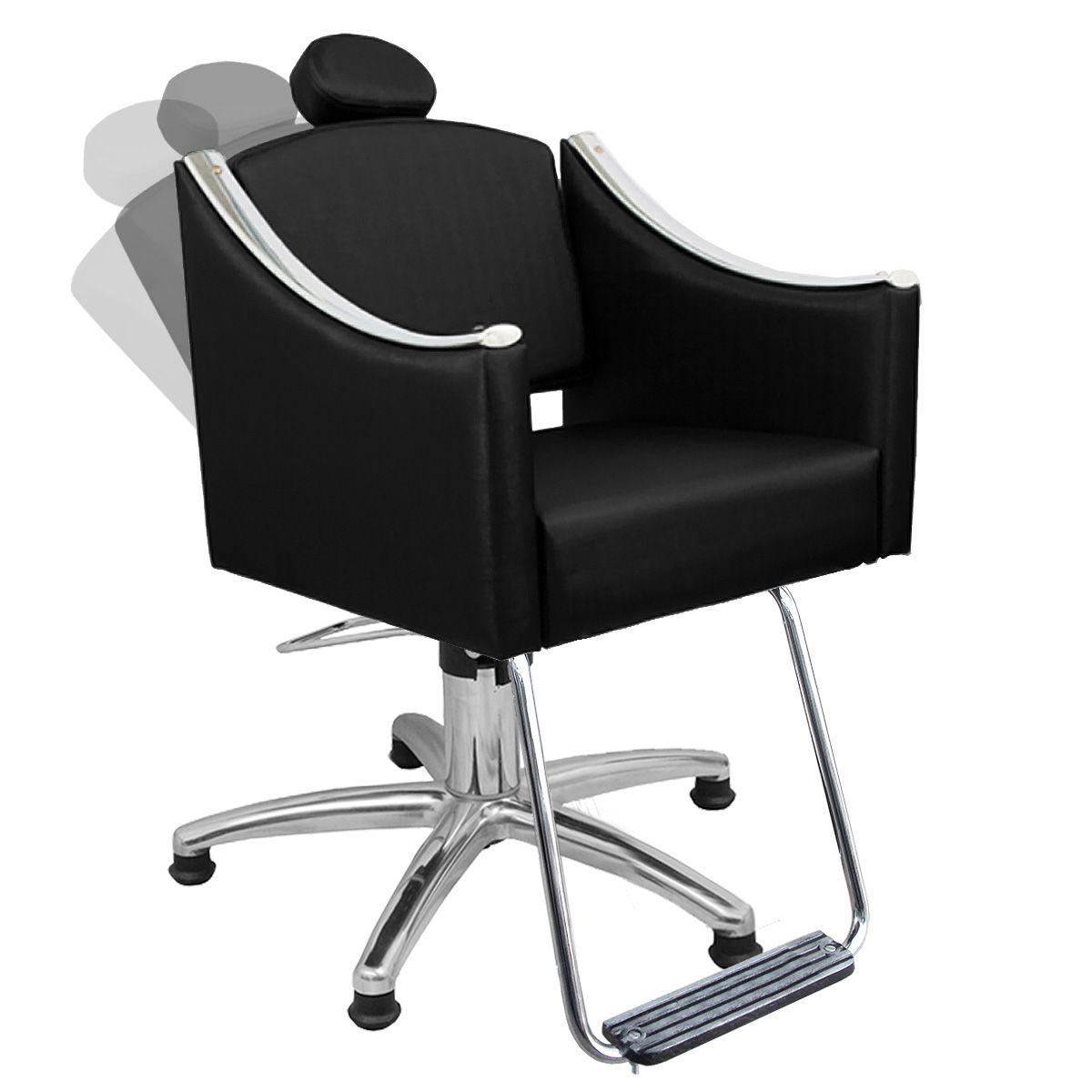 Cadeira de Cabeleireiro Cristal Encosto Reclinável - Pentapé