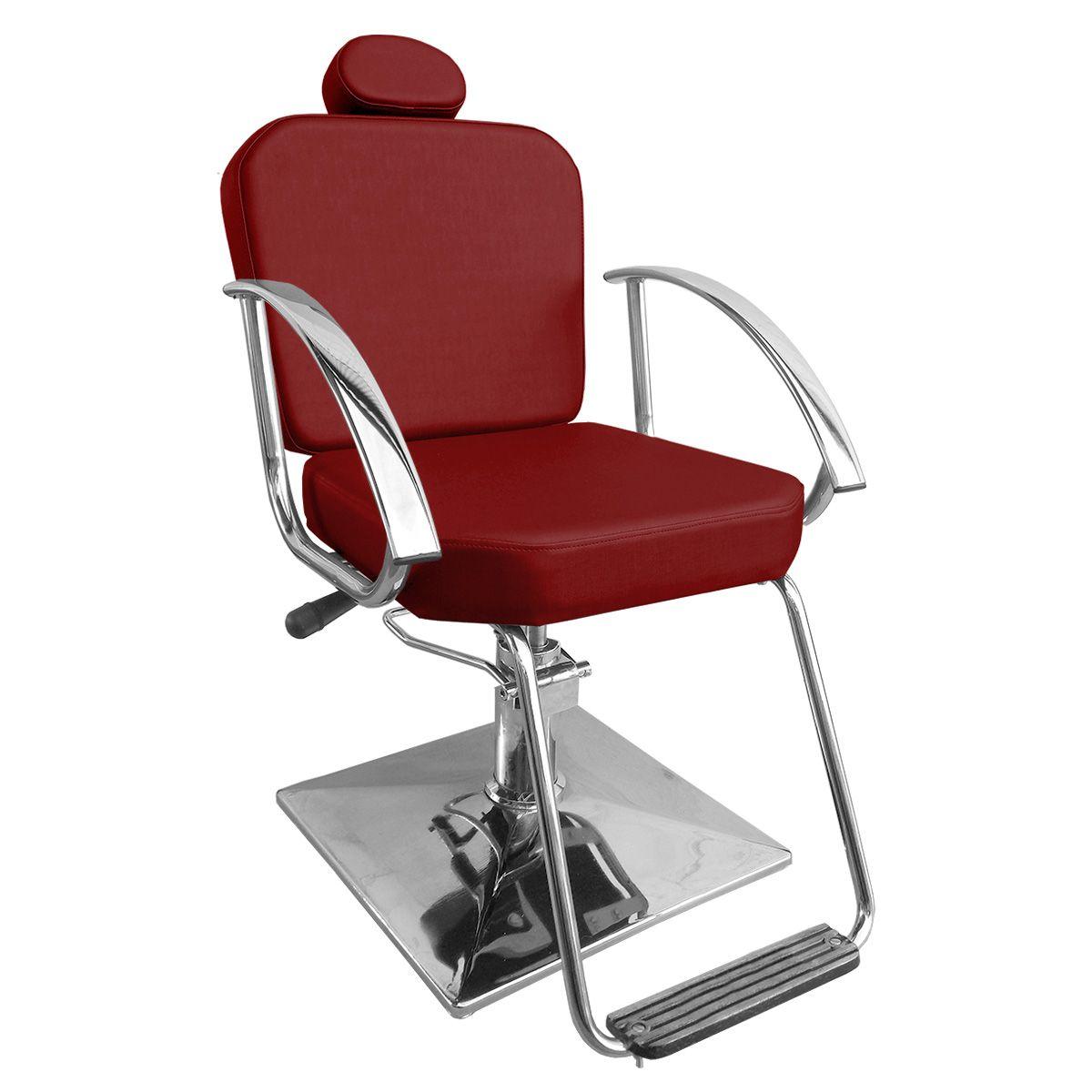 Cadeira de Cabeleireiro Dallas Encosto Fixo - Pé Quadrado