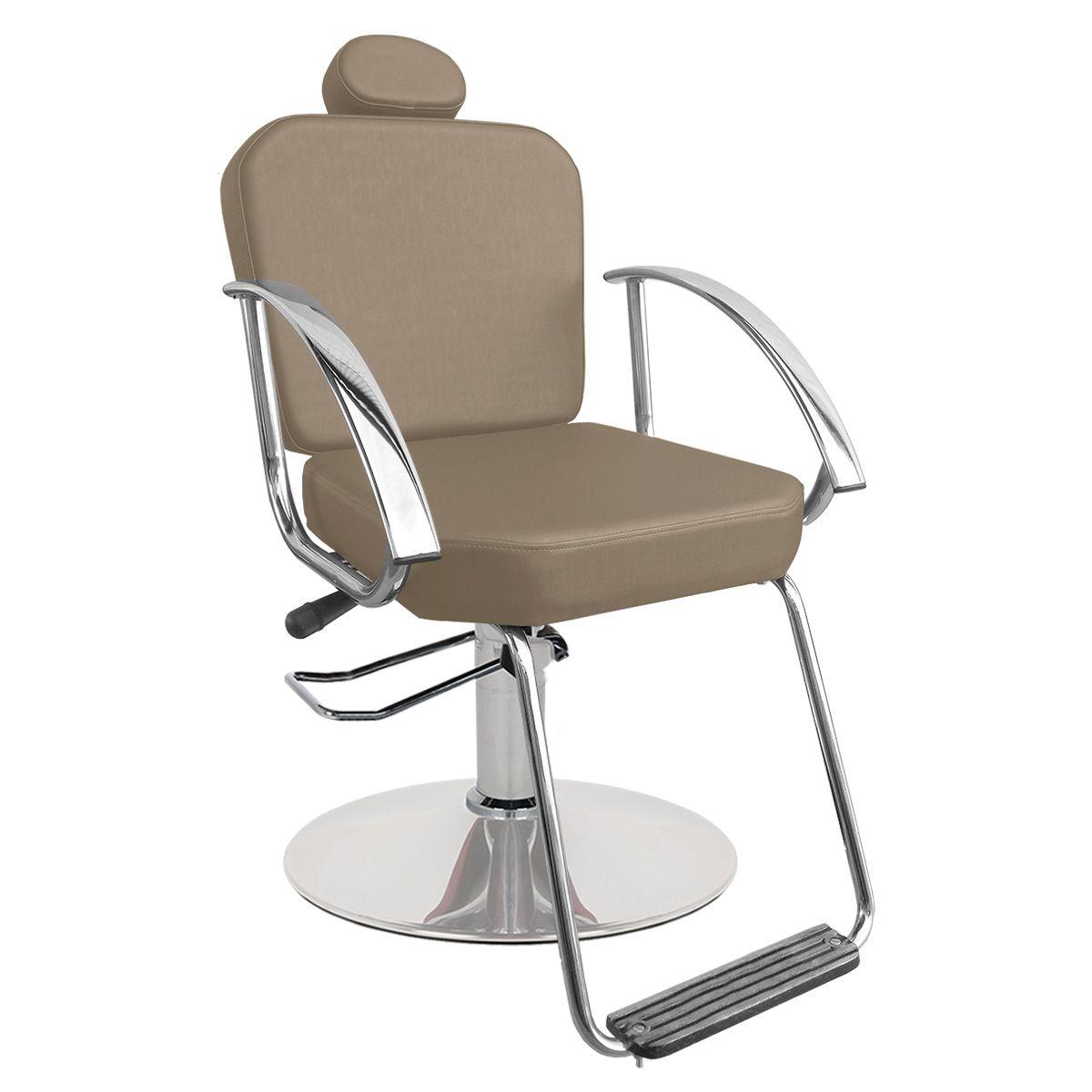 Cadeira de Cabeleireiro Dallas Encosto Fixo - Pé Redondo