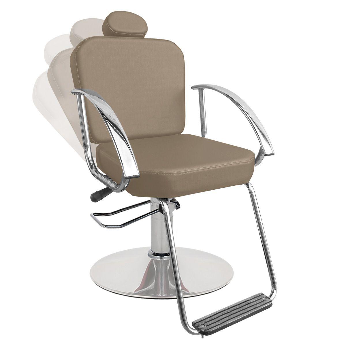 Cadeira de Cabeleireiro Dallas Encosto Reclinável - Pé Redondo