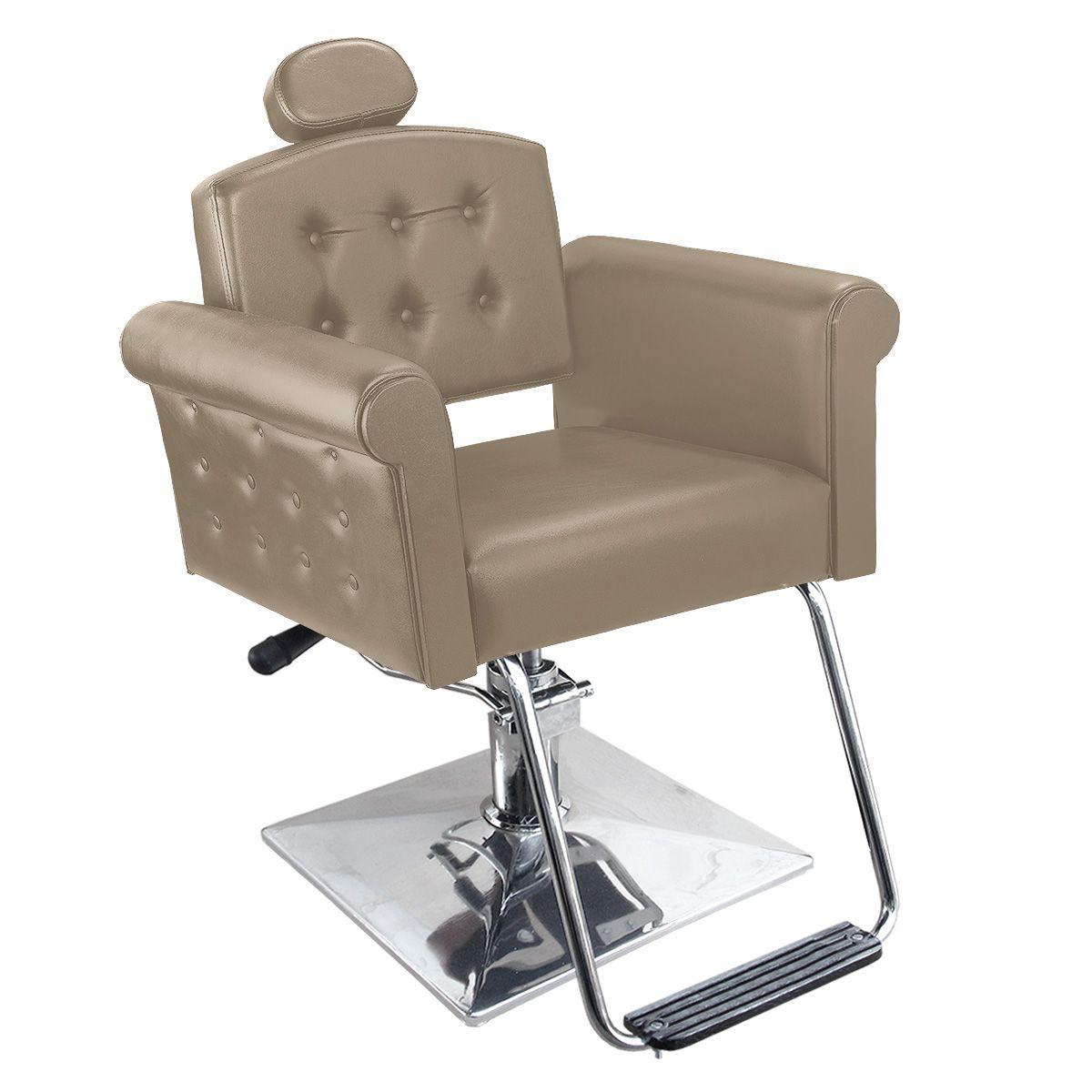 Cadeira de Cabeleireiro Elegance Encosto Reclinável - Pé Quadrado