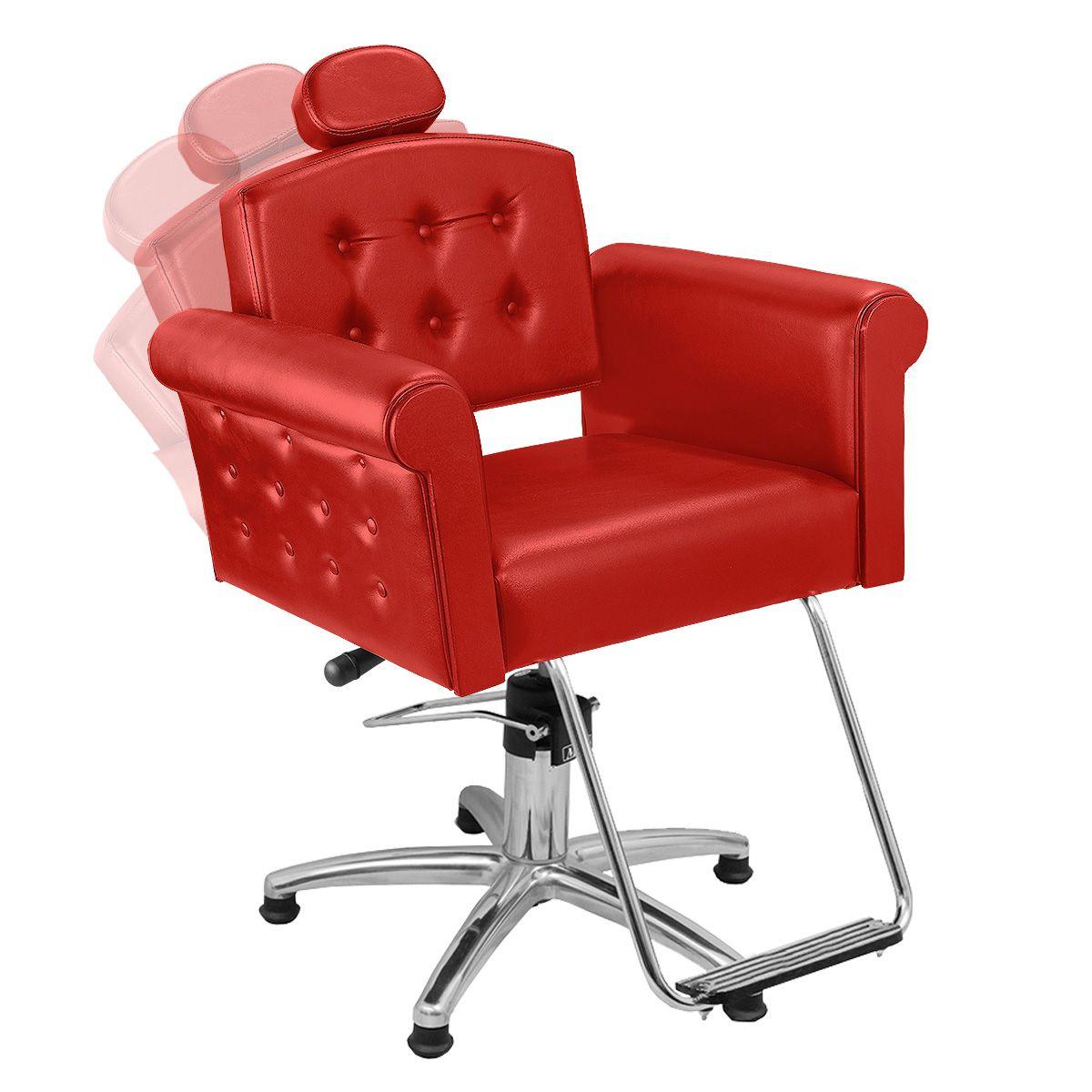 Cadeira de Cabeleireiro Elegance Encosto Reclinável - Pentapé