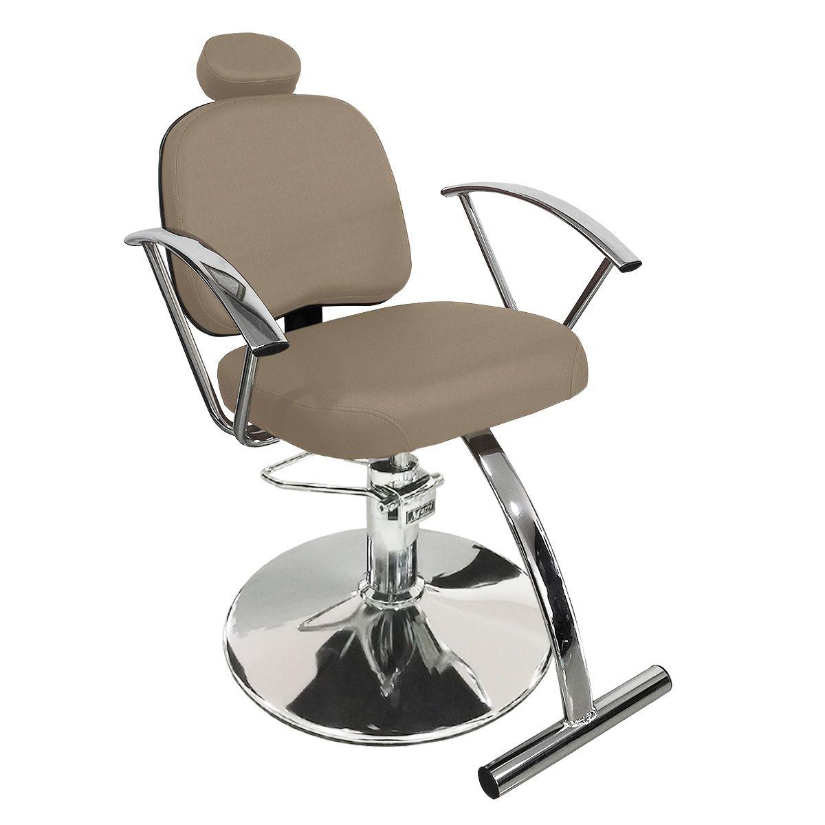Cadeira de Cabeleireiro Íris Encosto Fixo - Pé Redondo