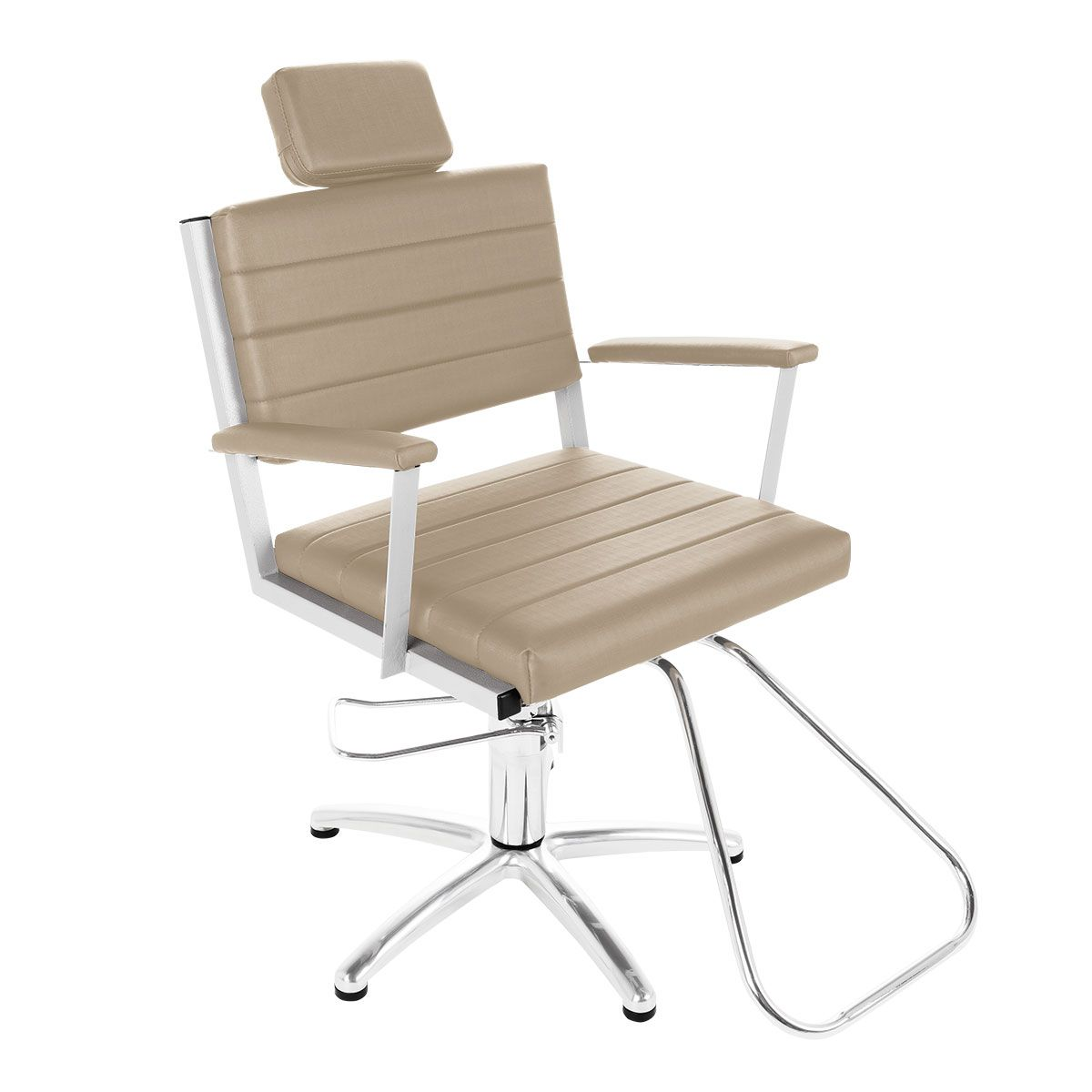 Cadeira de Cabeleireiro Mônaco Encosto Fixo Pentapé