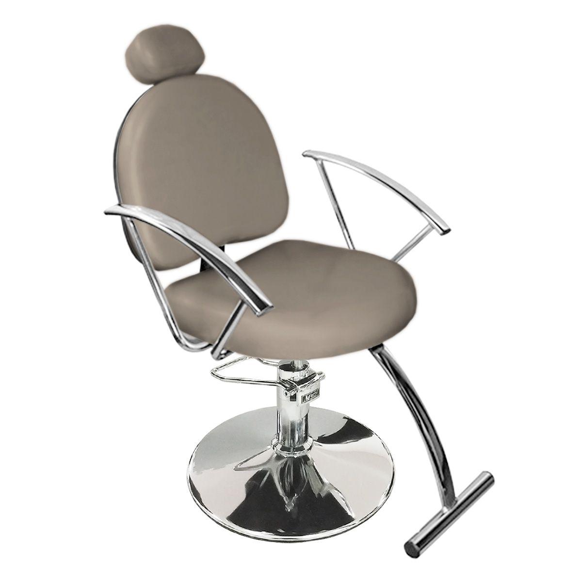 Cadeira de Cabeleireiro Roma Encosto fixo - Pé Redondo