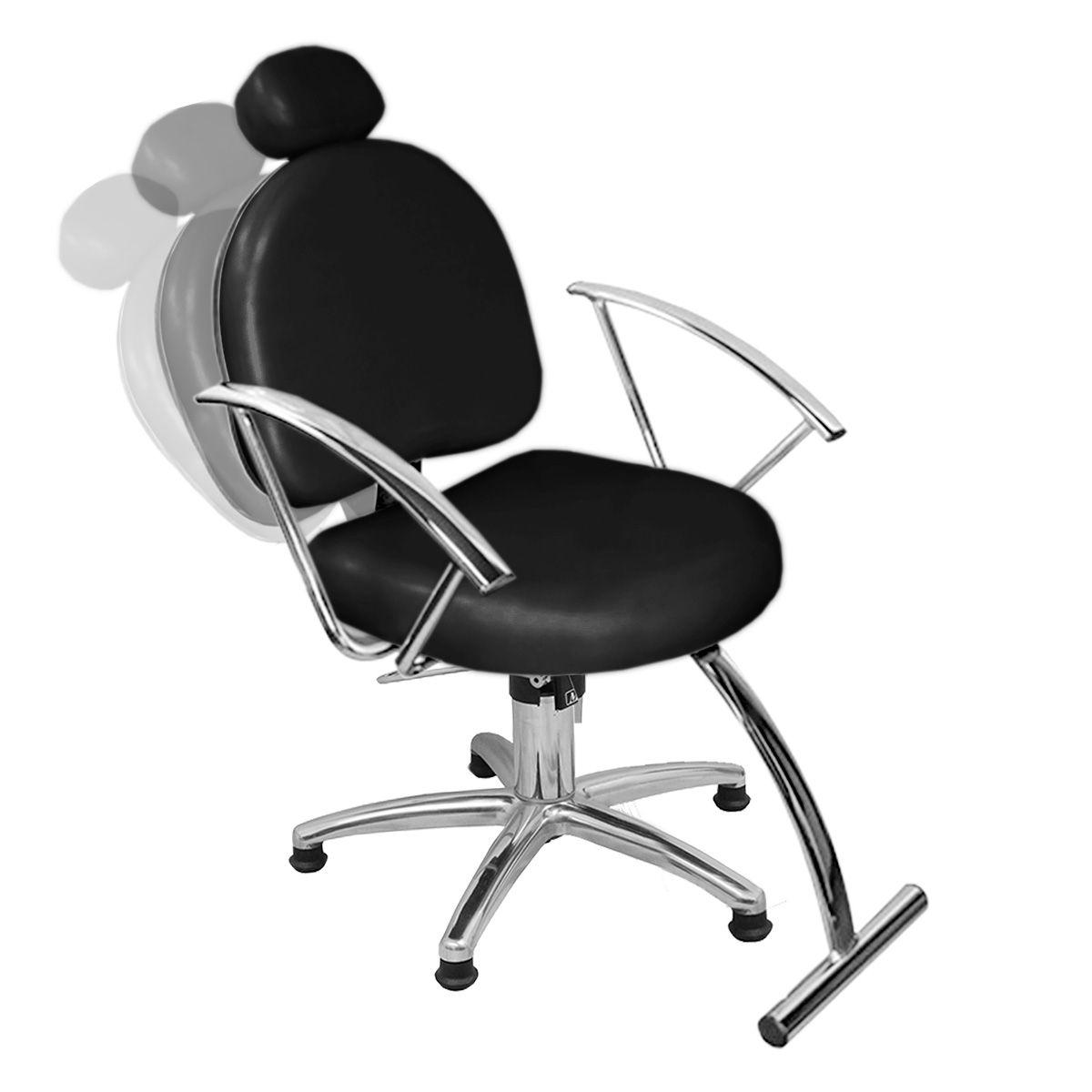Cadeira de Cabeleireiro Roma Encosto Reclinável - Pentapé
