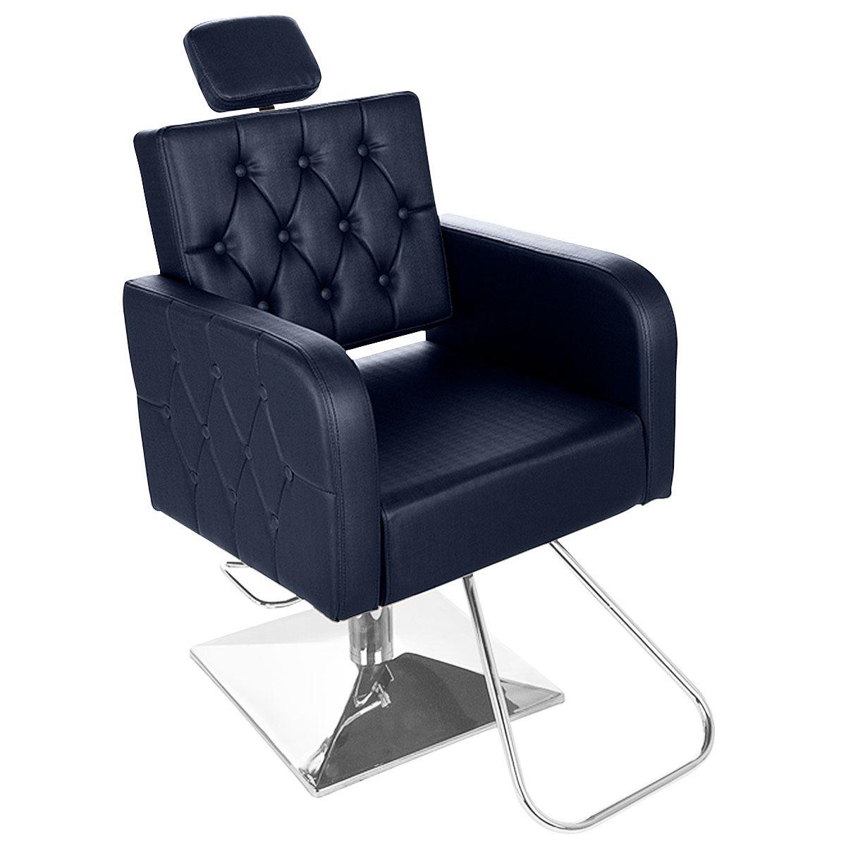 Cadeira de Cabeleireiro Siena Encosto Fixo Pé Quadrado