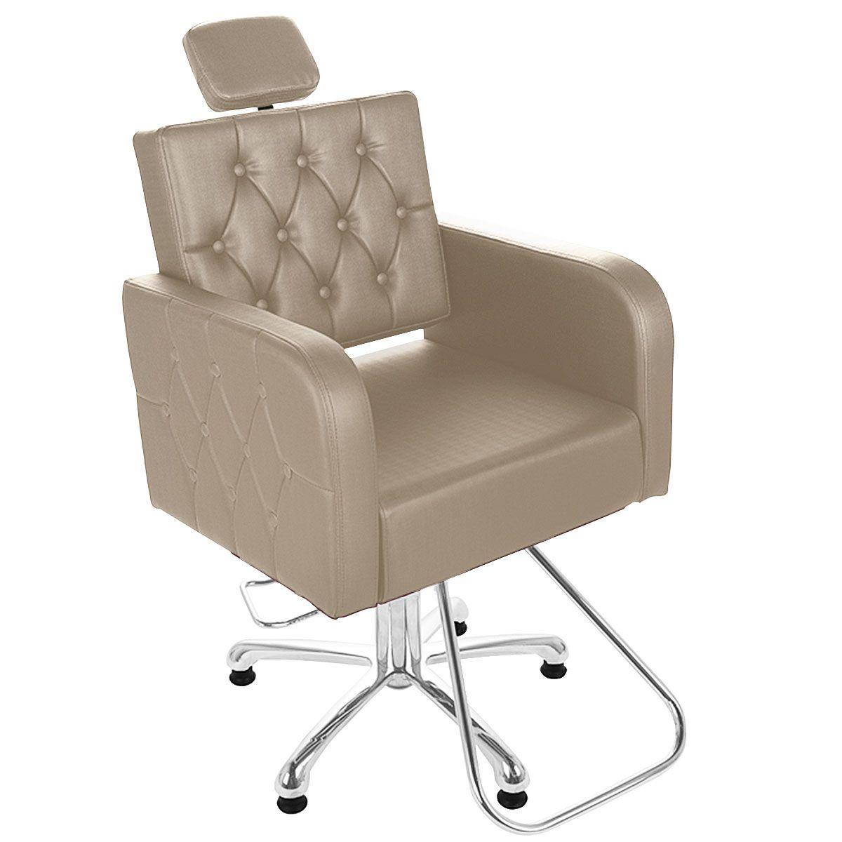 Cadeira de Cabeleireiro Siena Encosto Fixo Pentapé