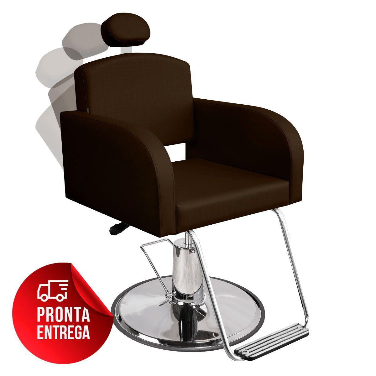 Cadeira de Cabeleireiro Sofia Encosto Reclinável - Pé Redondo