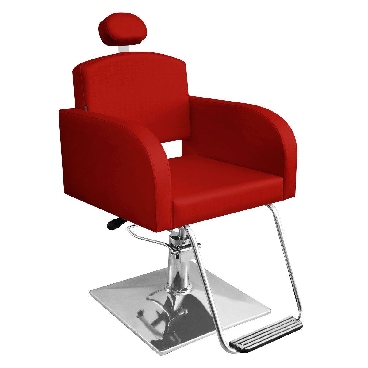 Cadeira de Cabeleireiro Sofia Reclinável - Pé Quadrado
