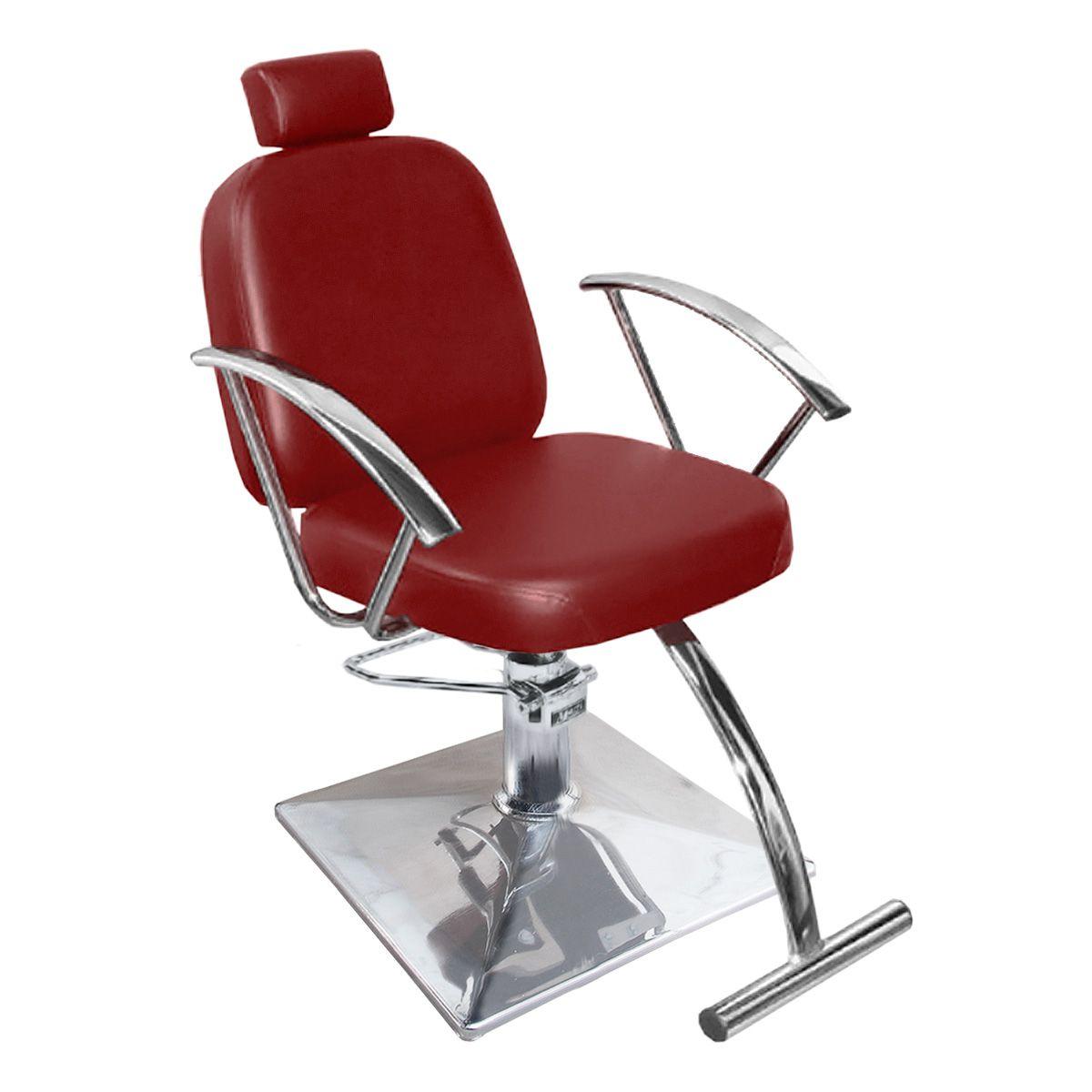 Cadeira de Cabeleireiro Turim Encosto Fixo - Pé Quadrado