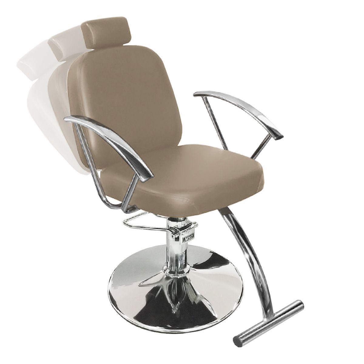 Cadeira de Cabeleireiro Turim Encosto Reclinável - Pé Redondo