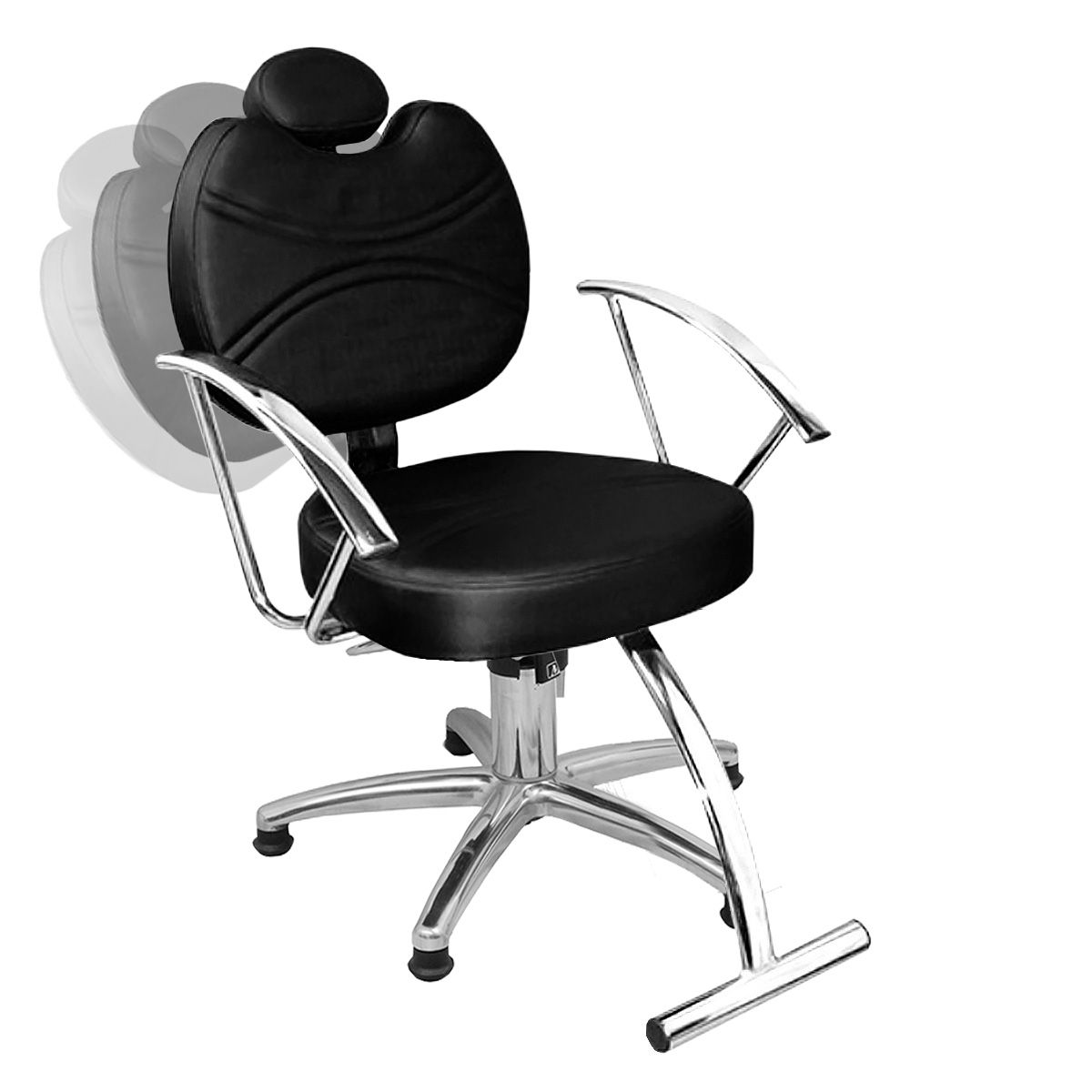 Cadeira de Cabeleireiro Vitória Encosto Reclinável - Pentapé