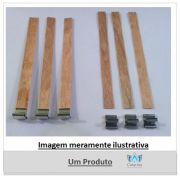 PAVIO DE MADEIRA 15 CM X 1,25 CM  COM GUIA SUSTENTADOR (10 UNIDADES)