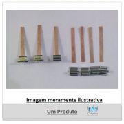 PAVIO DE MADEIRA 6 CM x 0,6 MM COM GUIA SUSTENTADOR (10 UNIDADES)