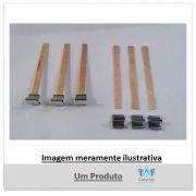 PAVIO DE MADEIRA 9 CM X  0,8 MM COM GUIA SUSTENTADOR (10 UNIDADES)