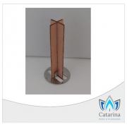 PAVIO DE MADEIRA EM CRUZ 5 CM X 1,25 CM COM GUIA SUSTENTADOR (10 UNIDADES)