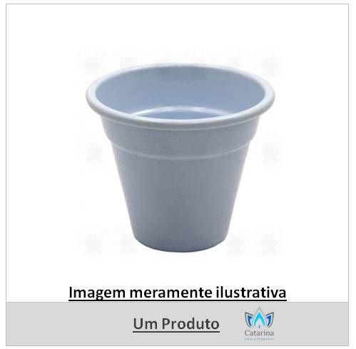 CACHEPOT PINTADO BRANCO 7,5 X 7