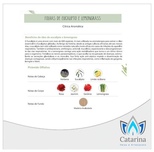 ESSÊNCIA FOLHAS DE EUCALIPTO E LEMONGRASS 500 ML