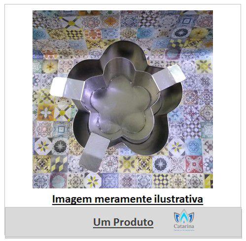LUMINÁRIA FLOR ALUMINIO 12 x 8