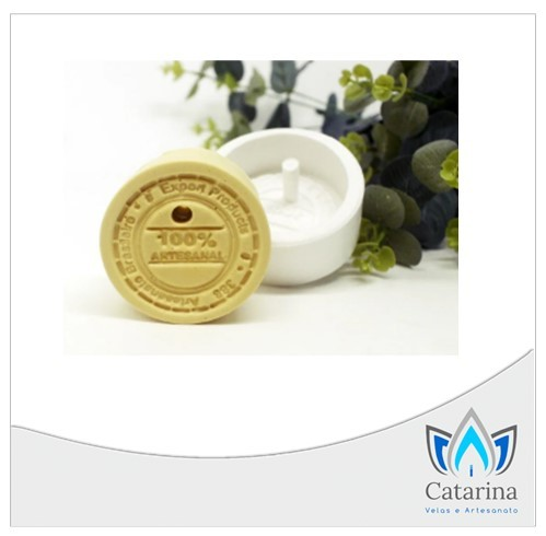 MOLDE DE SILICONE SABONETE 100% ARTESANAL (COM FURO)