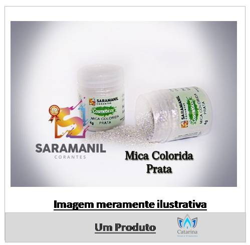PIGMENTO COSMÉTICO PÓ PRATA (MICA) SARAMANIL