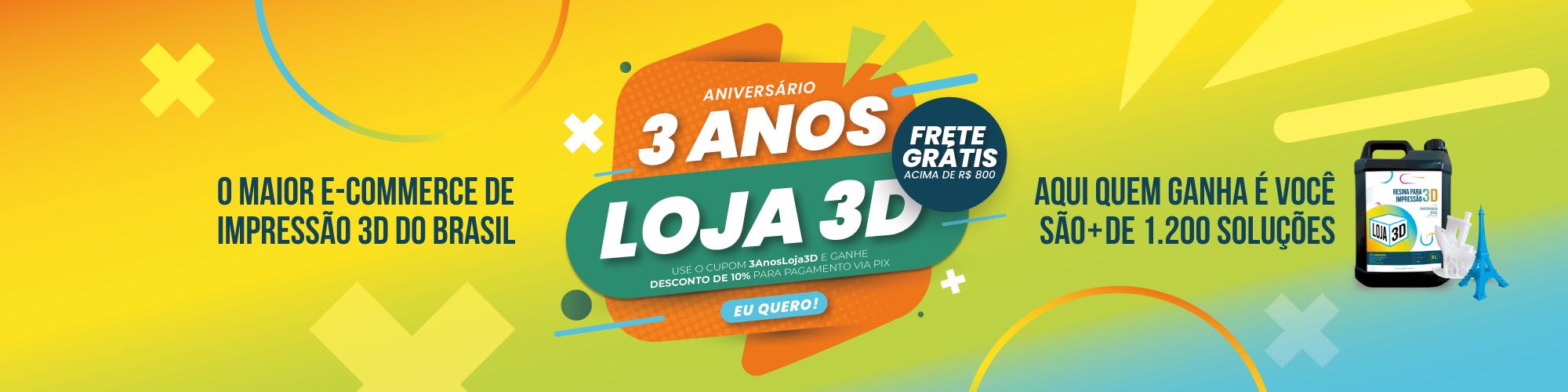 3 Anos Loja 3D