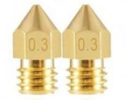 2 Bicos - Nozzle - 1.75mm - 0.3mm - Mk7 Mk8 Hotend para Impressora 3D