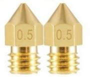 2 Bicos - Nozzle - 1.75mm - 0.5mm - Mk7 Mk8 Hotend para Impressora 3D