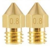2 Bicos - Nozzle - 1.75mm - 0.8mm - Mk7 Mk8 Hotend para Impressora 3D