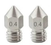 2 Bicos - Nozzle - Aço Inox - 1.75mm - 0.4mm - Hotend para Impressora 3D